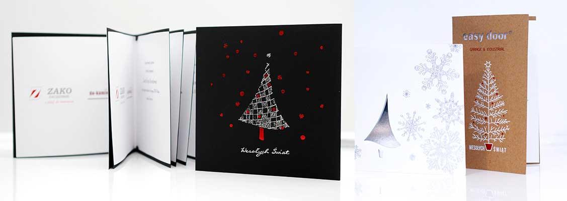 Nietypowy Okaz Kartki świąteczne. Z logo dla firm | Drukarnia Rzeszów OY74